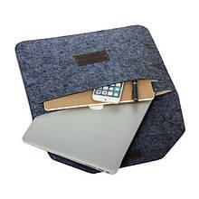 Защитный чехол для MacBook 13 (Войлок) Темно серый