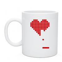 Печать на чашках Сердце,Heart tetris