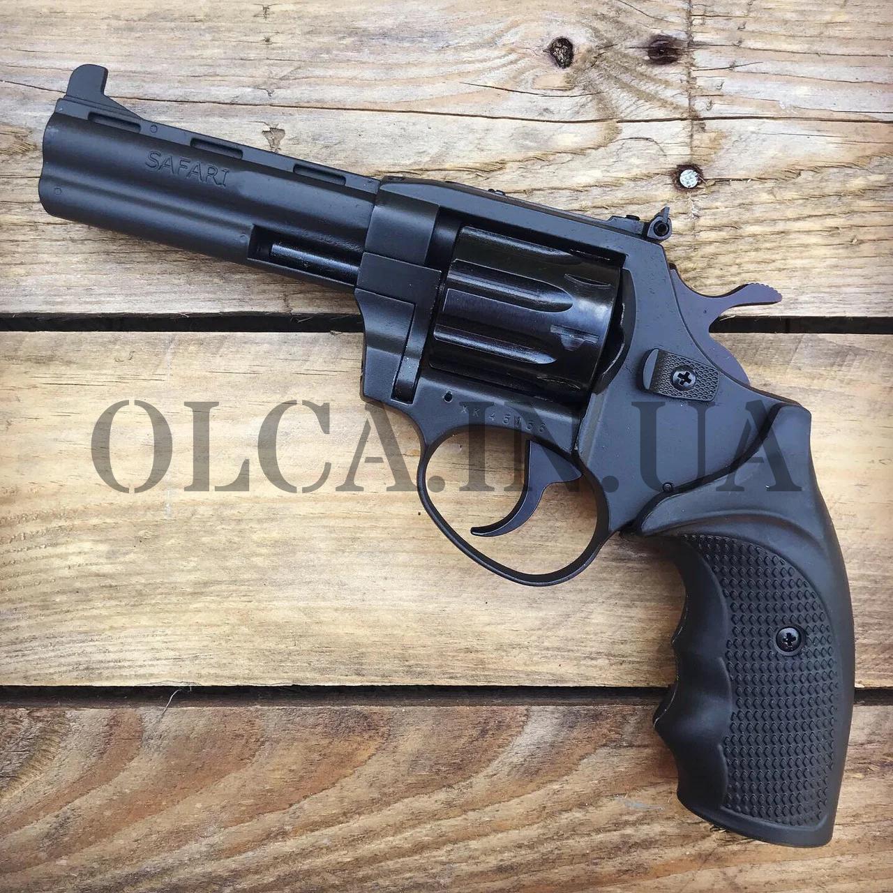 Револьвер ЛАТЭК Safari РФ-441М под патрон флобера (чер. пластик)
