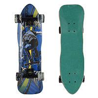 Скейт деревянный 823, наждак, колёса PU, (Канадский клен) Мальчик
