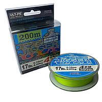 Плетеный шнур PE JIGGER ULT 0.10 - 0.40 мм 200 м 0.10