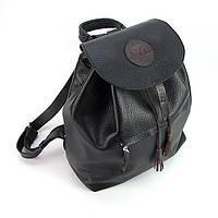 Рюкзак кожаный ручная работа черный Viladi 029