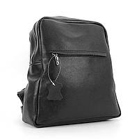 Рюкзак кожаный ручная работа черный Viladi 034