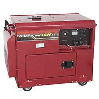 Генератор дизельный WEIMA WM5000CLE Silent (1 и 3 фазы, 5 кВт, электростартер, шумоизоляция)