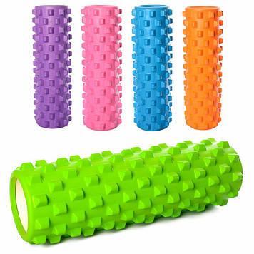 Массажный валик Ролик для спины Рулон для йоги (5 цветов) Рельефный роллик для массажа Ролик массажный