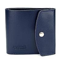 Жіночий шкіряний гаманець маленький на кнопці Handycover HC0062 синій