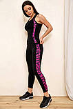 Спортивный костюм женский для фитнеса и спорта  (черный с розовым, р.S-M), фото 9