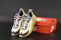 Мужские разноцветные кроссовки Nike Air Max 270 React Travis Scott (Кроссовки Найк Аир Макс 270 Тревис Скотт)