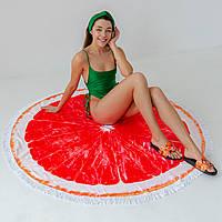 """Пляжное полотенце-покрывало """"Грейпфрут"""""""