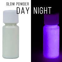 Люминофор бесцветный\фиолетовое свечение.  Уп. 10 г. Светящийся в темноте пигмент.