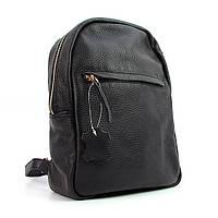 Рюкзак кожаный ручная работа черный Viladi 037-011