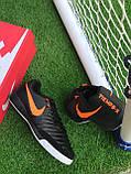 Футбольні Футзалки Nike Tiempo бампы найк темпо футбольна взуття для спорту, фото 6