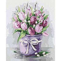 Картина по номерам. Изящные тюльпаны 40х50см арт. КНО2958