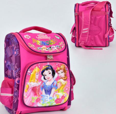 """Детский школьный рюкзак 00136 розовый """"Принцесы"""""""