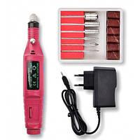 Фрезер ручка для маникюра YFZ-05 mini на 20 тыс.об/мин. 9 ватт розовый цвет