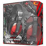 Навушники ігрові XTRIKE ME Gaming HP-307, чорно-червоні, фото 4