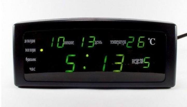 Годинники настільні CX 868 з зеленою підсвіткою