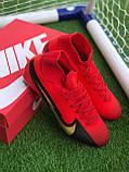 Футбольні Бутси Nike Mercurial Vapor 13 спортивне взуття для футболу найк меркуриал червоні, фото 2