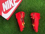 Футбольні Бутси Nike Mercurial Vapor 13 спортивне взуття для футболу найк меркуриал червоні, фото 4