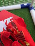 Футбольні Бутси Nike Mercurial Vapor 13 спортивне взуття для футболу найк меркуриал червоні, фото 6