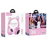 Навушники Bluetooth HOCO Cheerful Cat ear W27, рожеві, фото 3