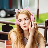 Навушники Bluetooth HOCO Cheerful Cat ear W27, рожеві, фото 4