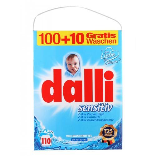 Стиральный порошок бесфосфатов для людей с чувствительной кожей и детей Dalli Sensitiv 110 стирок 7,15 кг