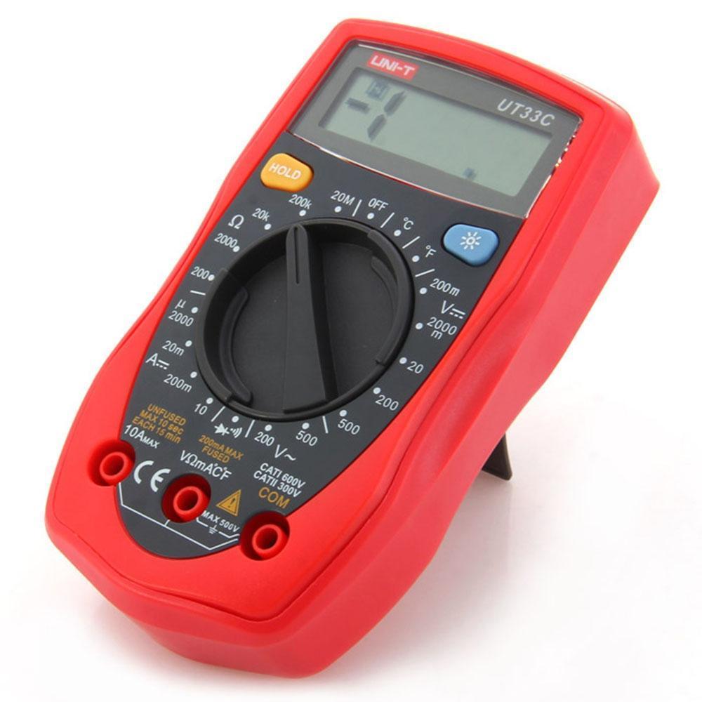 Мультиметр UNI-T UT33С Вимірювання: V, A, R, T