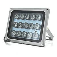 ІК прожектор YOSO 12V 30W, 15LED, IP66, 850нм, кут огляду 60 °, лінза 8мм, дальність до 50м, 180 * 115 * 140мм, BOX