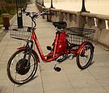 Трехколесный Электровелосипед 3-Cycl трицикл, фото 5