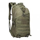 Рюкзак тактичний міської Molle Assault A19 чорний, 30 л, фото 3