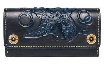 Великий жіночий гаманець з натуральної шкіри Alfa Big Turtle