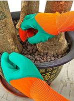 Садовые перчатки Грабли с когтями для сада и огорода Садовый инвентарь Garden Genie Gloves 2 в 1