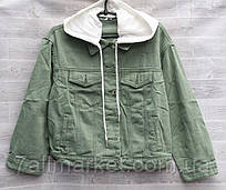 """Куртка жіноча джинсова c капюшоном на гудзиках, розміри S-2XL """"RELUCKY"""" недорого від прямого постачальника"""