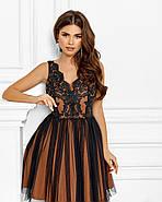 Нарядне ніжне плаття на випускний в ляльковому стилі, 00635 (Бежевий), Розмір 44 (M), фото 2