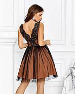 Нарядне ніжне плаття на випускний в ляльковому стилі, 00635 (Бежевий), Розмір 44 (M), фото 4