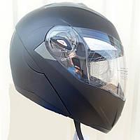 Шлем трансформер модуляр F2 Rider чёрный матовый размер S