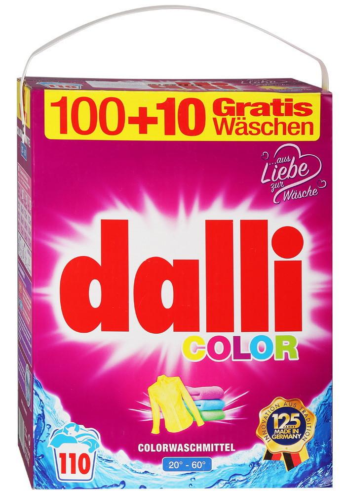 Dalli Color - стиральный порошок для цветного и белого белья без фосфатов 110 стирок 7,15 кг