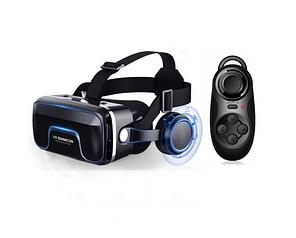 Окуляри віртуальної реальності VR SHINECON Original 10.0 + пульт для геймерів Чорні (0550)