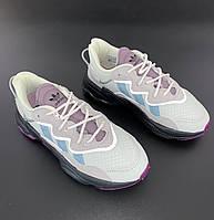 Модные женские кроссовки Adidas Ozweego Lilac сиреневые (Кроссовки Адидас Озвиго рефлективные весна/лето)