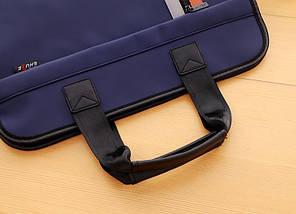 Темно-синяя сумка А4 из ткани, фото 2