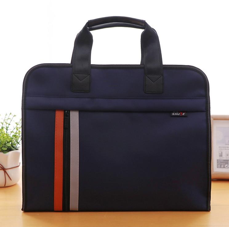 Темно-синяя сумка А4 из ткани