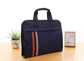 Темно-синя сумка А4 з тканини, фото 2