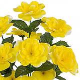 Искусственные цветы букет бегоний, 34см, фото 2