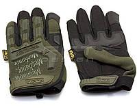 Перчатки Mechanix тактические полнопалые без косточек хаки