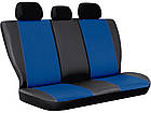 Авточохли універсальні (повний набір) Pok-ter Exclusive з екошкіри синій, фото 2