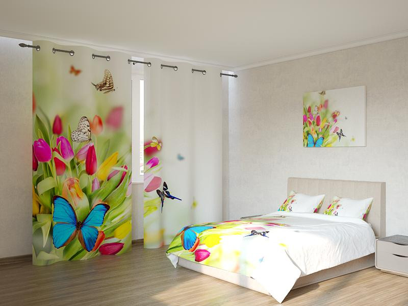 Фотокомплект тюльпаны и бабочки