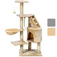 Ігровий комплекс для кішок AVKO Buffy когтеточка, будиночок, дряпка Бежевий