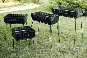Reckless  Мангал раскладной , чемодан на 6 шампуров, 2мм. для шашлыка и гриля с чехлом.