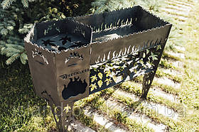 Reckless Комплекс печь под казан + мангал,металл 3 мм. 890х340х740 мм